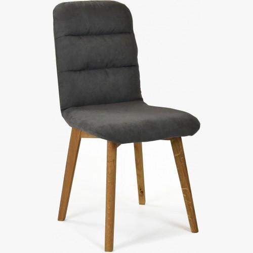 Pohodlná židle, tmavá látka - dubové nohy Orlando
