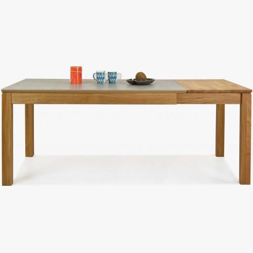 Rozkládací stůl, deska Dekton šedá, Fano XL