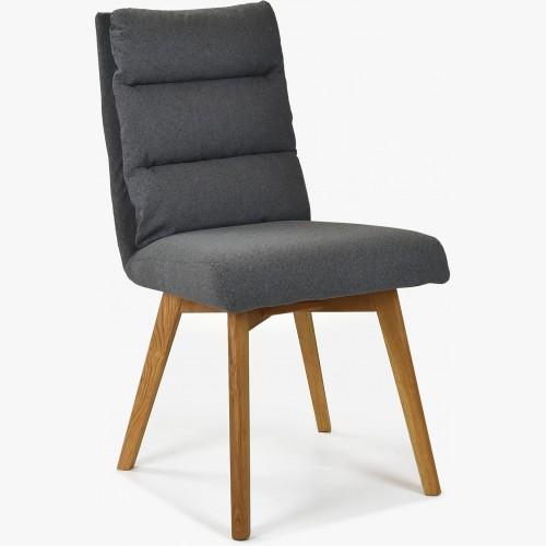 Pohodlná židle,Kampa - nohy dub, tmavě šedá