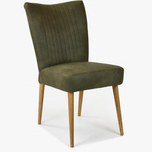 Elegantní židle valencia - kulaté nohy dub, olivová