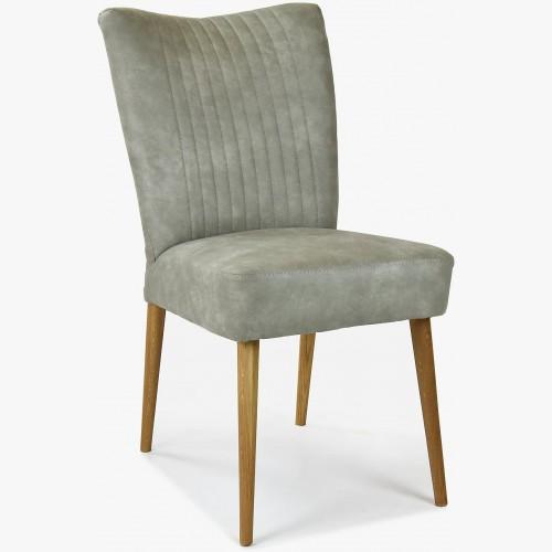 Elegantní židle valencia - kulaté nohy dub, šedá mátové