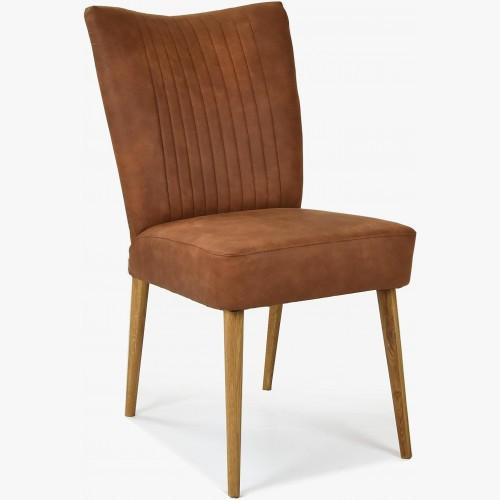 Elegantní židle valencia - kulaté nohy dub, koňaková