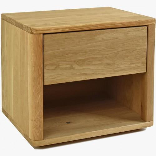 Dubový noční stolek Emma se šuplíkem