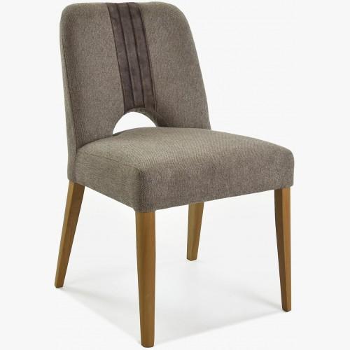 Luxusní židle do jídelny v šedé barvě, Nantes