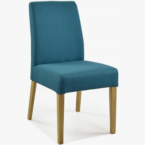 Čalouněná židle - tyrkysová látka, Malaga