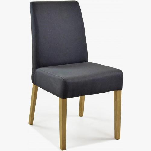Čalouněná židle - antracit látka, Malaga