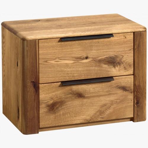 Noční stolek z dubu se dvěma šuplíky, Denver 82