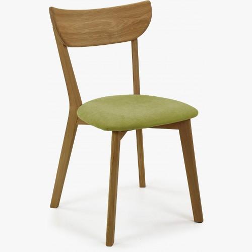 Moderní židle dub Eva, zelený sedák