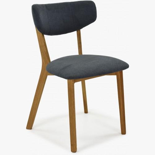 Látková židle - nohy dub, Amisa antracitová