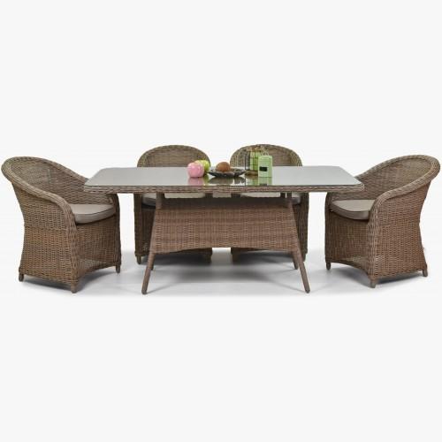 Teakový zahradní stůl a židle