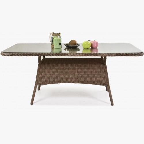 Zahradní teakový stůl 160 x 90