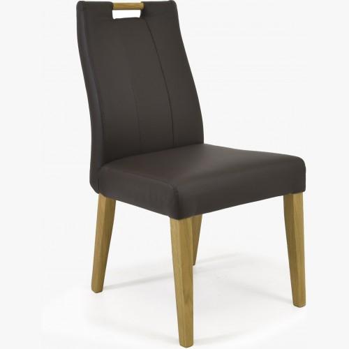 Dubová židle kožená -...