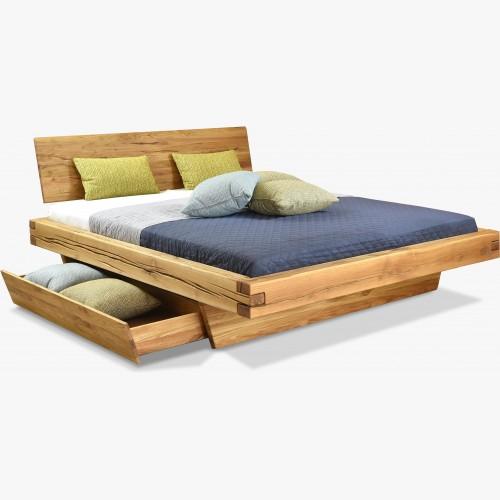Dubová postel z hranolů,...
