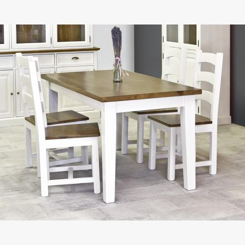 Dřevěný stůl z masivu bílo...