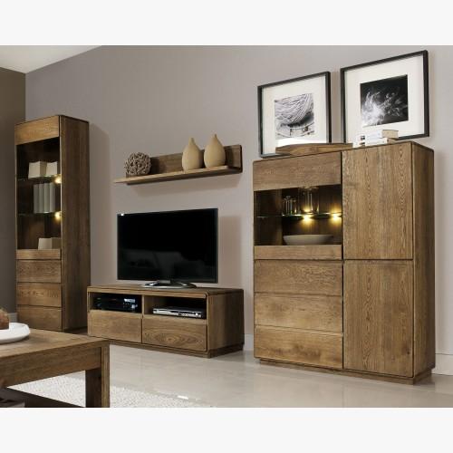 Dřevěná obývací stěna
