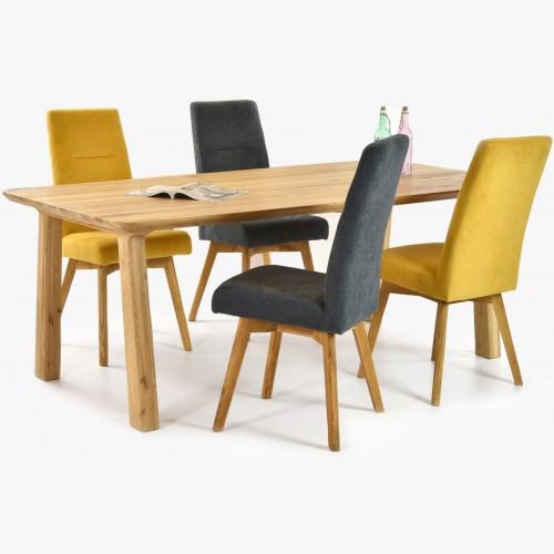 žluté a šedé židle včetně...