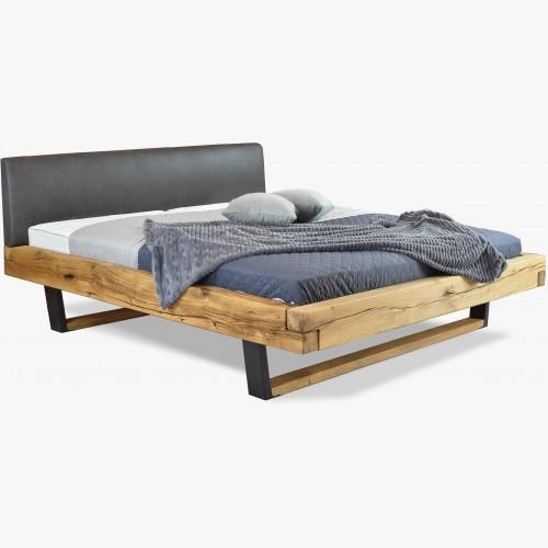 Moderní masívni postel z dub - kovové nohy, Laura
