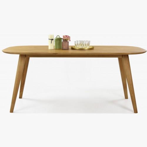 Oválný jídelní stůl z dubového masivu, Otawa