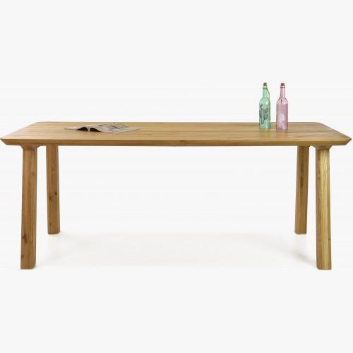 Jídelní stůl z masivu - zaoblené hrany, Tina