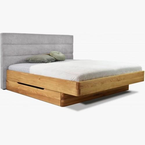 Dubová postel látkové čelo...