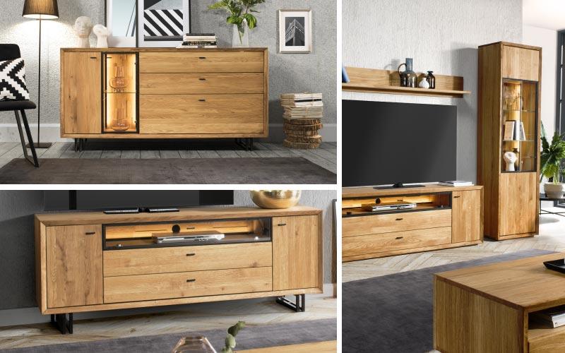 Exkluzivní nábytek do obýváku z dubového dřeva, Vigo